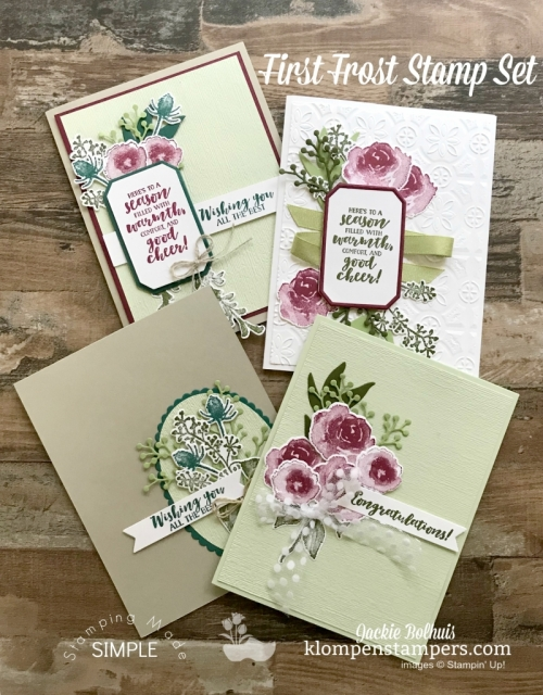 Visit Jackie Bolhuis, Klompen Stampers for tons of quick and easy greeting card designs and video tutorials. #cardmaking #greetingcards #stampinupcards #jackiebolhuis #klompenstampers,