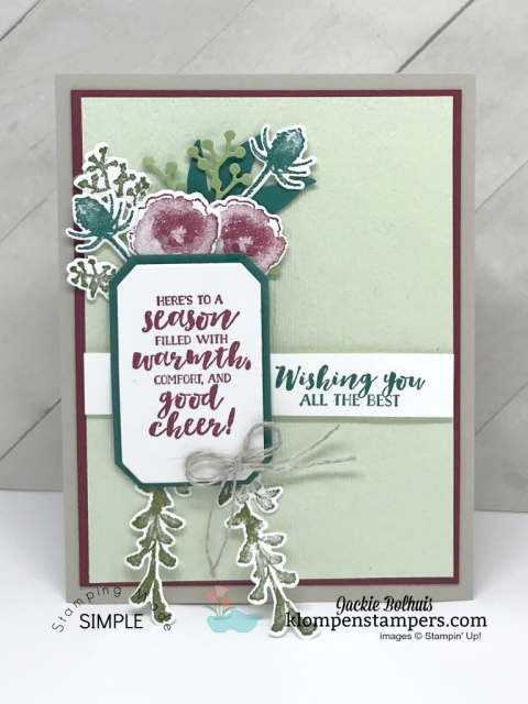 Stampin' Up! First Frost Christmas card with Jackie Bolhuis, Klompen Stampers