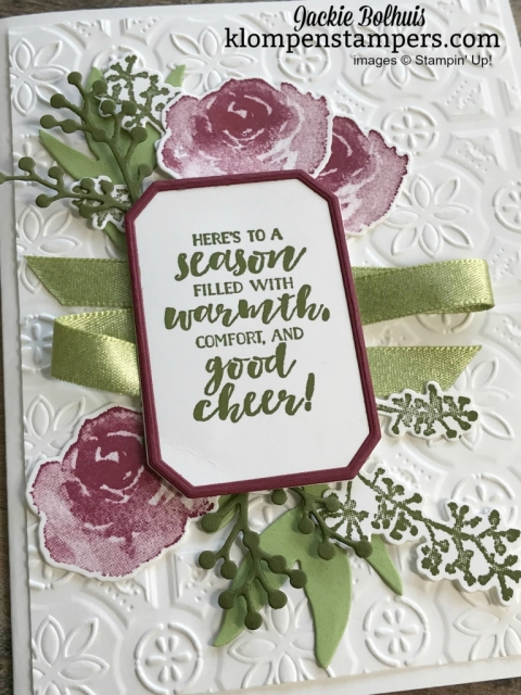 Stampin' Up First Frost Christmas Card Design with Jackie Bolhuis