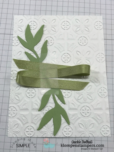 Die cut tips and trick for layering the First Frost pieces by Stampin' Up!