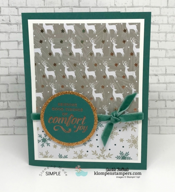 Timeless Tiding Stampin Up with Designer Series Paper