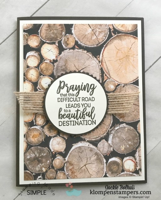 How to make a greeting card with paper by Jackie Bolhuis, Klompen Stampers