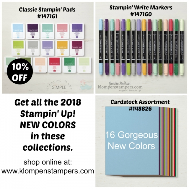 Stampin Up Colors 2018