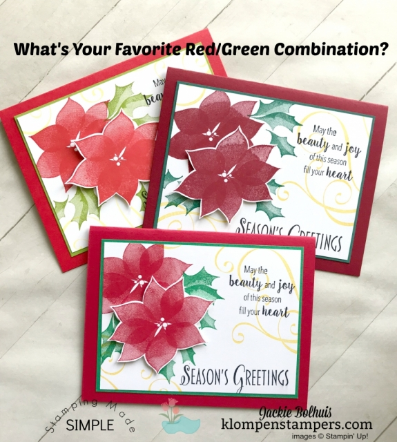 Unique Christmas Cards with different color combinations.