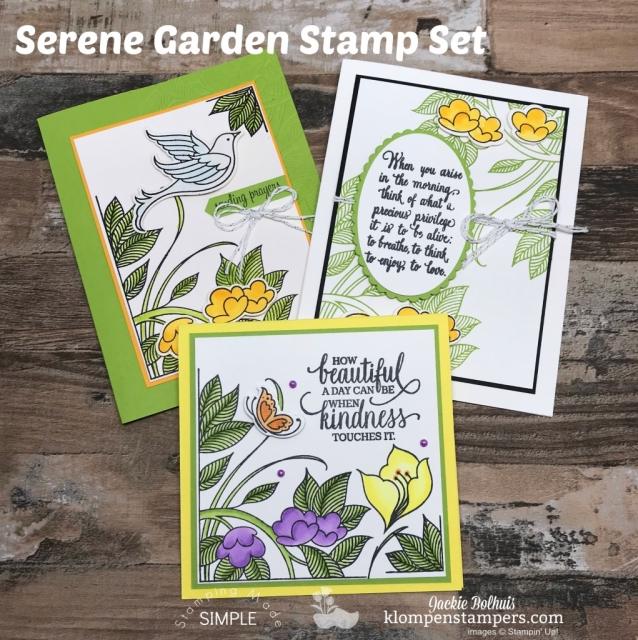 Stampin up Serene Garden