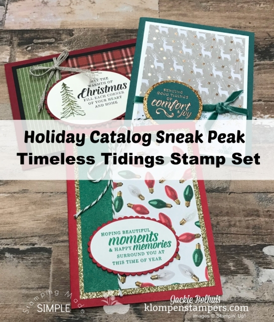 Stampin Up Holiday Catalog Sneak Peak 2018