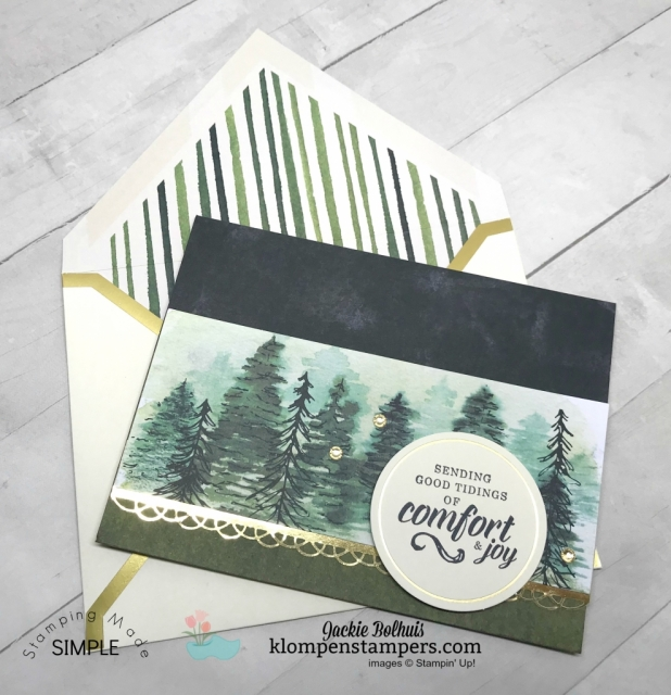 How to make a greeting card with paper? Join Jackie Bolhuis with Klompen Stampers for full tutorials