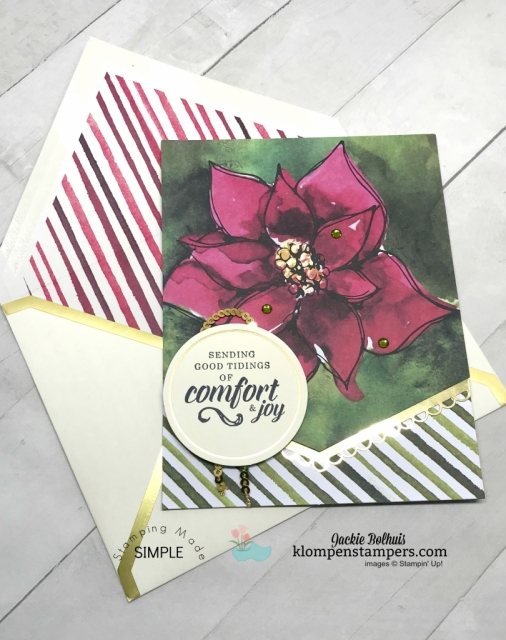Learn how to make a stack of DIY Christmas Cards with Jackie Bolhuis, Klompen Stampers