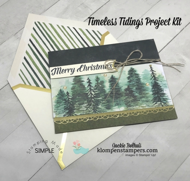 DIY Christmas Card ideas made easy with Jackie Bolhuis, Klompen Stampers