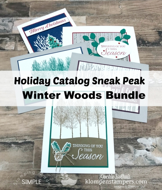 Stampin' Up! Winter Woods Bundle