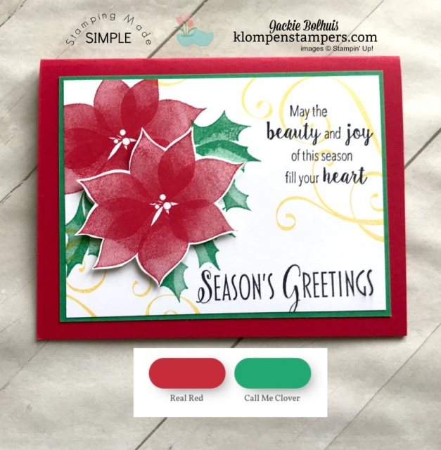 Christmas Cards with Real Red and Call Me Clover color combinations