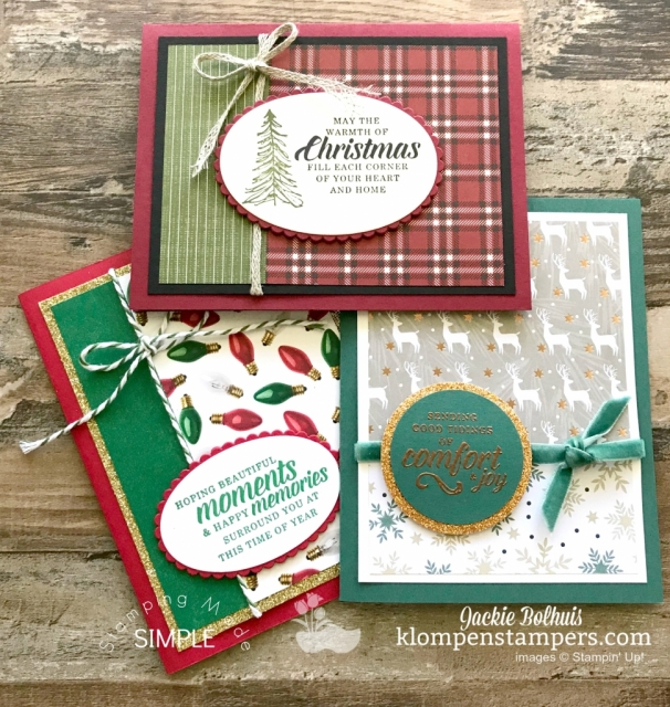 Stampin Up Designer Series Paper and Timeless Tidings Stamp Set