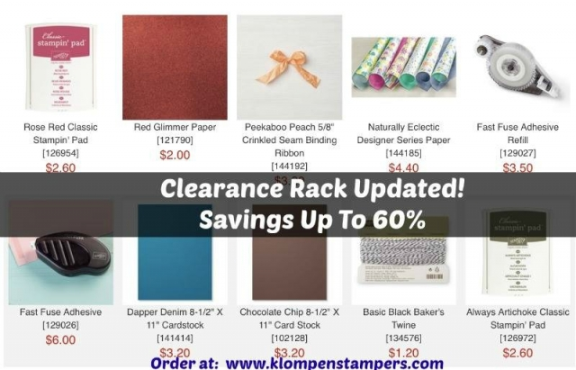 Clearance Rack item by Stampin' Up!  Check them out on Klompen Stampers, Jackie Bolhuis