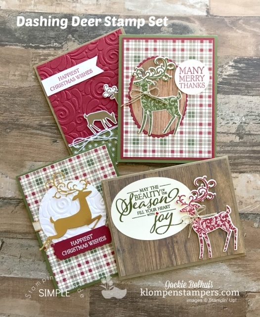 Handmade-Cards-With-Dashing-Deer-Stampin-Up