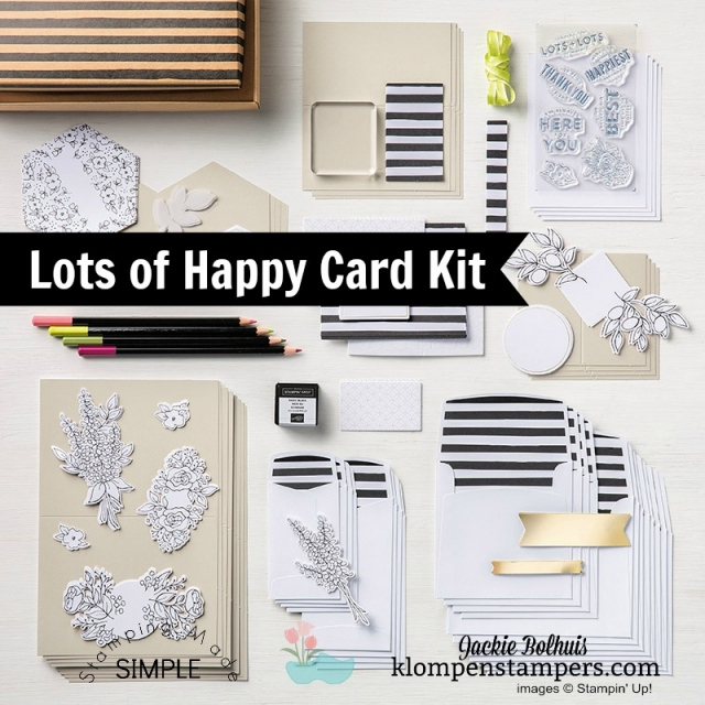 Card Kits on Sale! World Card Making Day Sale on Card Kits October 1-7, 2018 #cardmaking #jackiebolhuis #klompenstampers