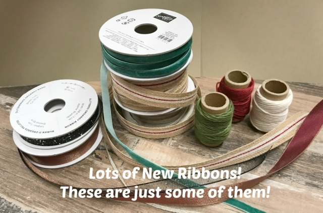 New Ribbons in the 2018 Stampin' Up! Holiday Catalog