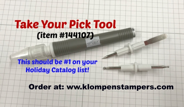 Must Have List Item #1 Take Your Pick Tool. Great for paper crafters, quilters, sewers, and more!