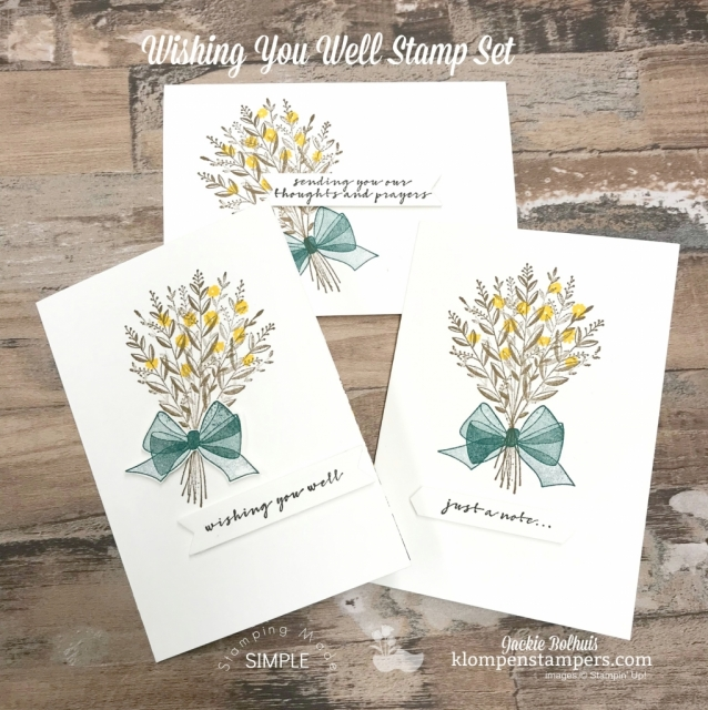 Got a great gift idea for you today these 6 Fast Greeting Cards Made With 'Wishing You Well' Stamp Set are quick and easy. Video Tutorial included!