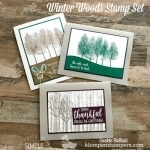 Masculine Cards Using Winter Woods Stamp Set