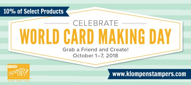 World Card Making Day Sale on Card Kits October 1-7, 2018 #cardmaking #jackiebolhuis #klompenstampers