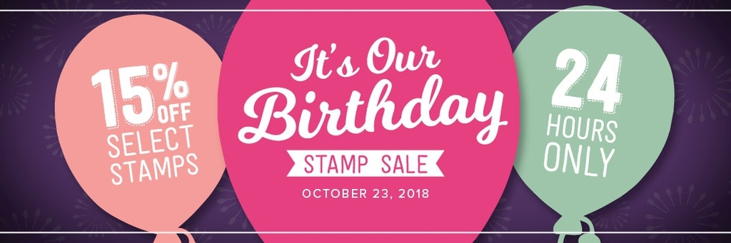 24 Hour Sale! Celebrate With 15% Off Stamps