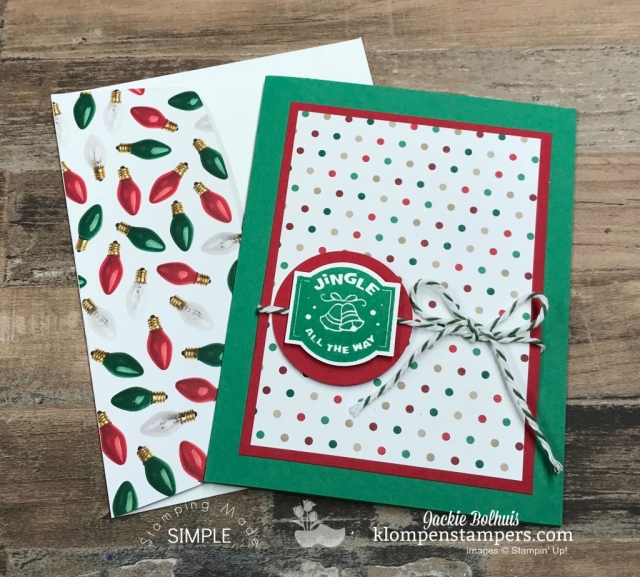 Holiday Cards with Matching Envelopes! Jackie Bolhuis has a video tutorial showing you step by step how to create these 6 Christmas cards with matching envelopes, stamped sentiments, and lots of tips & tricks. Make these handmade cards in under 1 hour. #christmascards #greetingcards #cardmaking #klompenstampers #JackieBolhuis