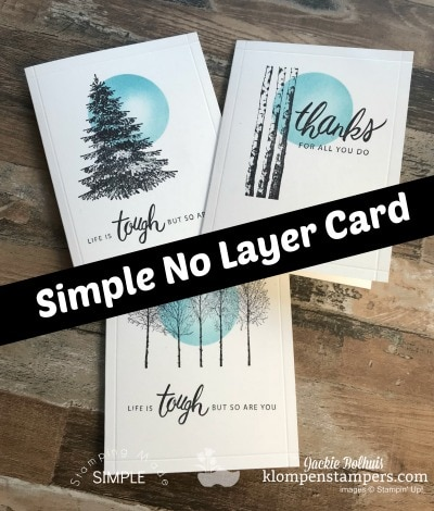 One Layer Card Plus Masking Technique Made Easy