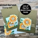 Lots of Card Making Tips Using Painted Harvest Stamp Set