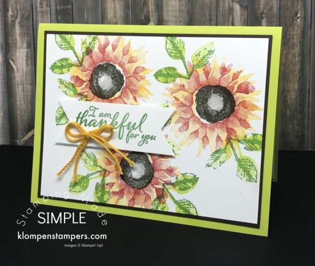 Handmade-Greeting-Card-Thank-You-Card-with-Sunflowers-Green-Leaves