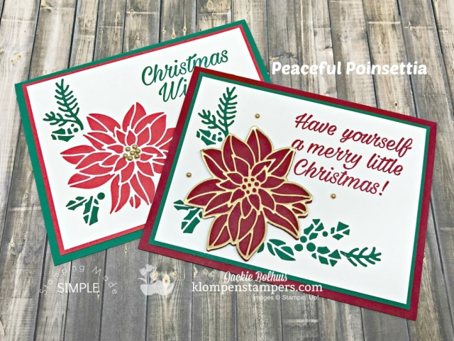 2 Ways to Use the Same Die in Cardmaking- Jackie Bolhuis teaches you 2 ways to use the same die to make 2 different handmade cards. Lots of die cutting tips and tricks offered too. For tutorial and other cardmaking ideas visit www.klompenstampers.com- Look for the November 9, 2018 post. #cardmaking, #greetingcards, #christmascards, #jackiebolhuis, #klompenstampers,
