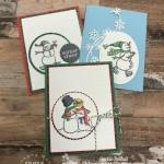 DIY Snowmen Cards with Marker Blending Tips