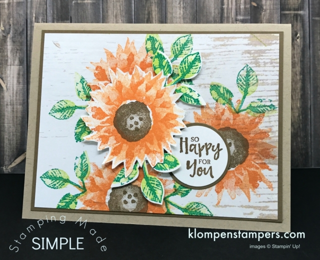 Painted Harvest Card with video tutorial including lots of card making tips. Join Jackie Bolhuis with Klompen Stampers and watch how quick and easy this handmade greeting card is to make! #cardmaking #greetingcards #stampinupcards