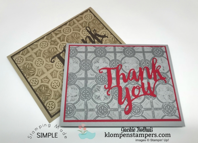 Thank You Card Made with Ink + Embossing Folder