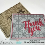 Thank You Card | Ink + Embossing Folder