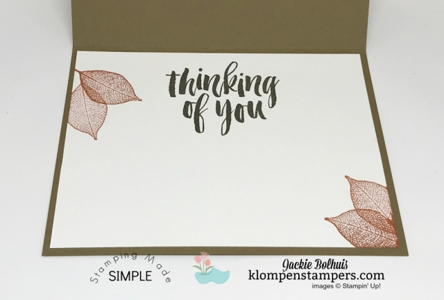 Stamped Greeting on the inside of a masculine handmade card