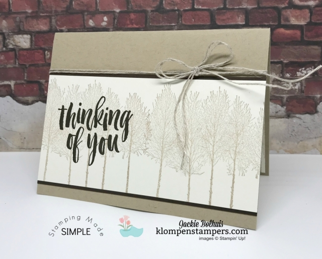 Thinking of you card for men