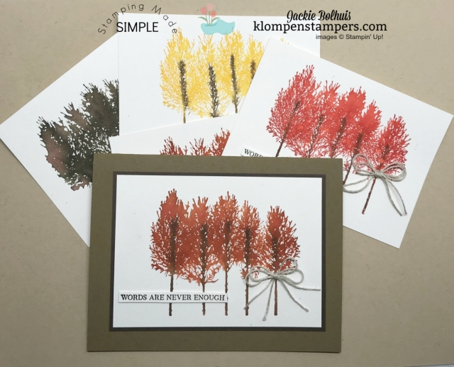 Handmade Card Design Ideas with Watercolored Trees