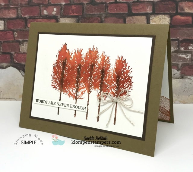 Easiest Watercolored Trees by Jackie Bolhuis, Klompen Stampers