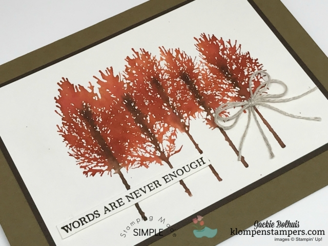 Stampin' Up! Winter Woods Handmade Cards