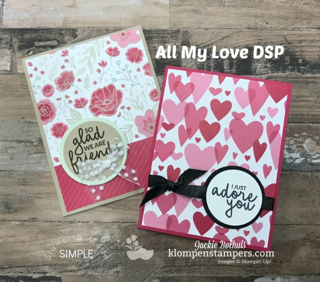Stampin Up Designer Paper Pack All My Love