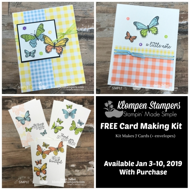Card Making Kit with Butterfly Gala January 2019