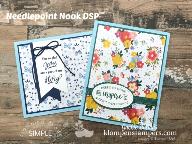 Stampin Up 2019 Occasions Catalog Needlepoint Nook Paper Share by Jackie Bolhuis