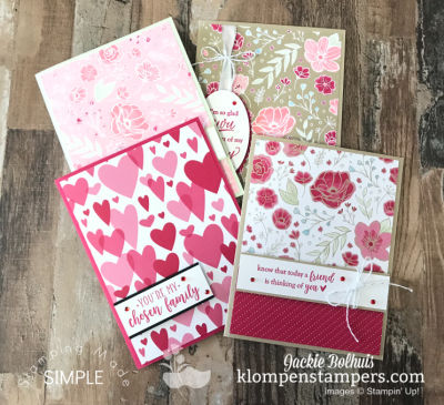 Easy Valentine's Card Featuring All My Love Designer Paper