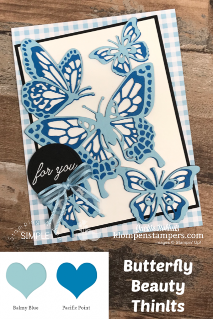 Monochromatic Greeting Cards with Butterflies in Blue Color Tones