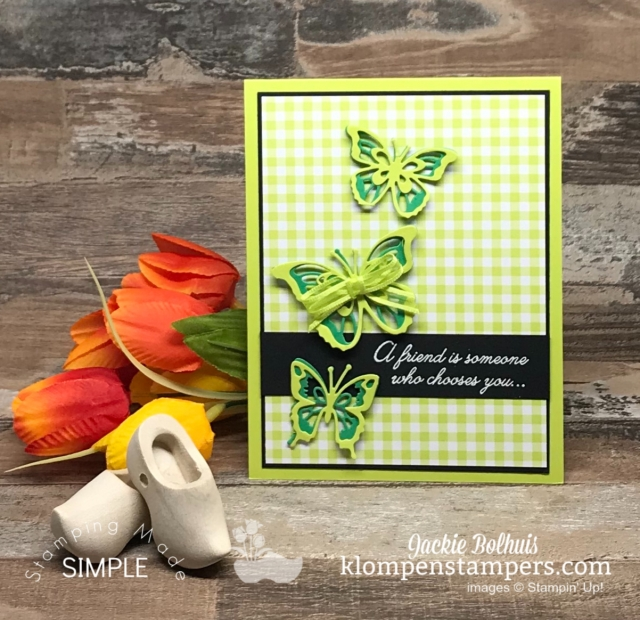 Beauty Abounds Card Image with Green Butterflies