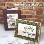 Surprise! Easy Layered Stamping on this Greeting Card