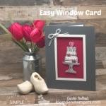 Easy Handmade Wedding Card | Window Card Tutorial