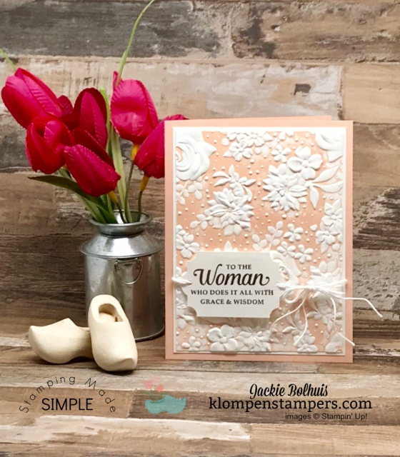 Simple-Embossing-Technique-on-Handmade-Card-of-Petal-Pink-with-Stamped-Greeting