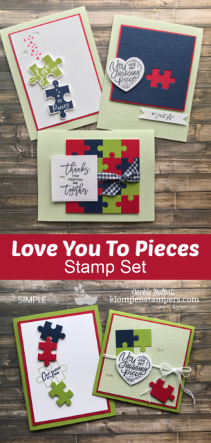 Stampin' Up! Love You to Pieces Handmade Card Images