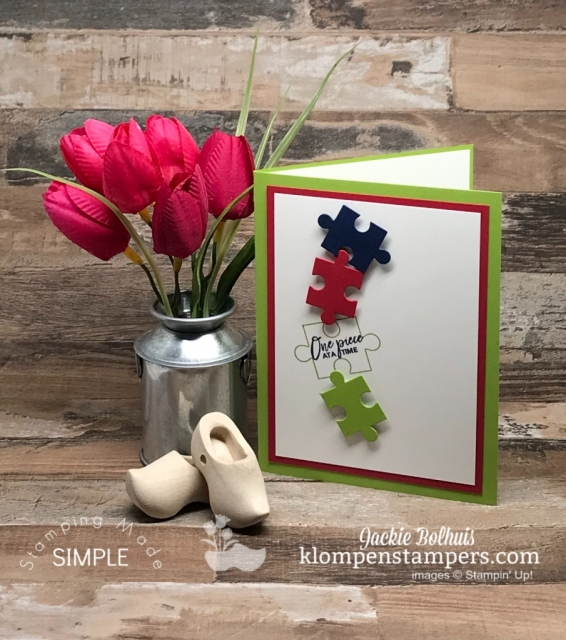 One Piece at a Time made with Stampin' Up! Love You to Pieces